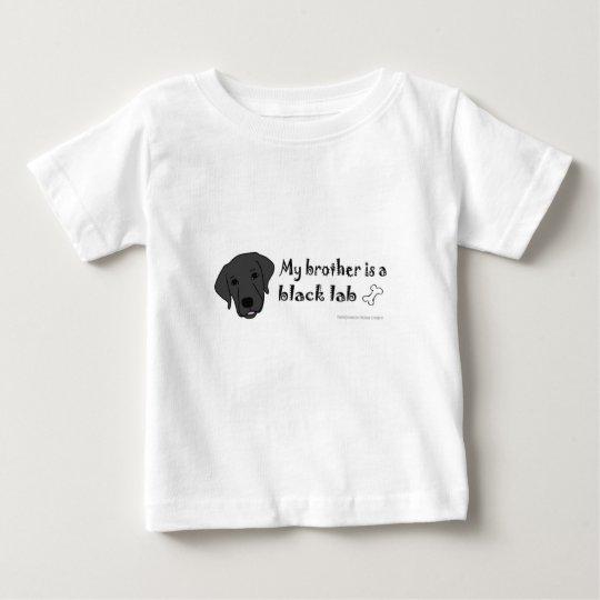 schwarzer Labrador Baby T-shirt