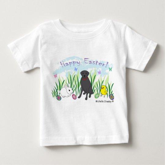 schwarzer Labrador Ostern Baby T-shirt