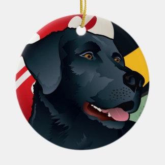 Schwarzer Labrador-Retriever von Maryland Keramik Ornament