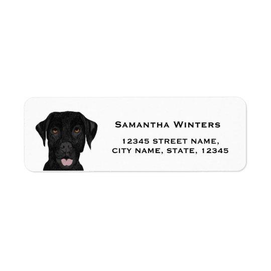 schwarzer Labrador-Rücksendeadresseaufkleber Kleiner Adressaufkleber