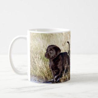 Schwarzer Labrador-Welpe Tasse