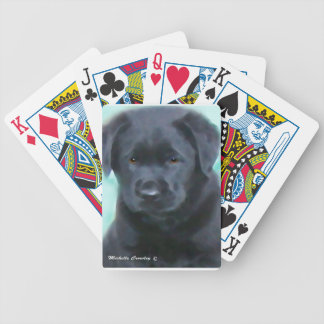 schwarzer Labradorwelpe 2 Bicycle Spielkarten