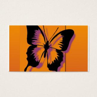 Schwarzer lila Schmetterling Visitenkarte