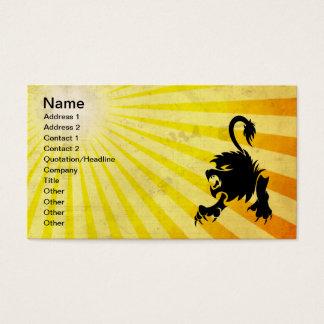 Schwarzer Löwe; Löwe Visitenkarte