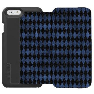 SCHWARZER MARMOR DIAMOND1 U. BLAUER STEIN INCIPIO WATSON™ iPhone 6 GELDBÖRSEN HÜLLE