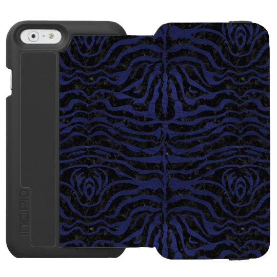 SCHWARZER MARMOR SKIN2 U. BLAUES LEDER INCIPIO WATSON™ iPhone 6 GELDBÖRSEN HÜLLE
