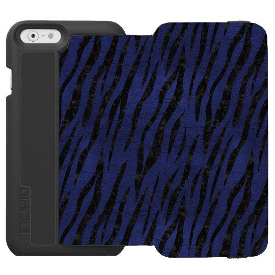 SCHWARZER MARMOR SKIN3 U. BLAUES LEDER (R) INCIPIO WATSON™ iPhone 6 GELDBÖRSEN HÜLLE
