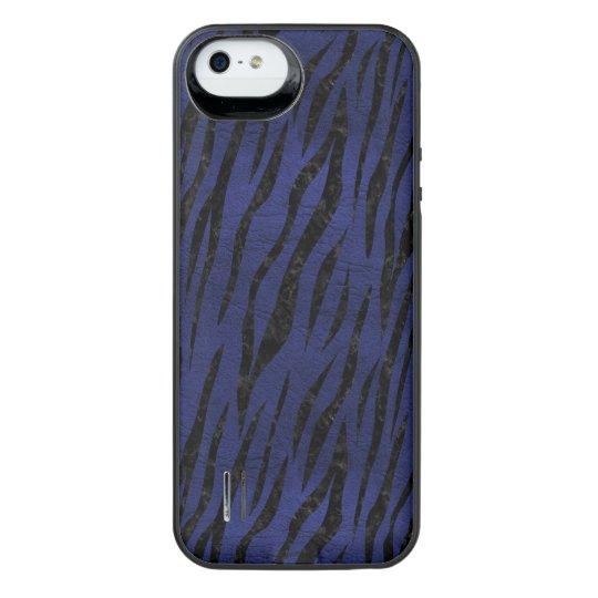 SCHWARZER MARMOR SKIN3 U. BLAUES LEDER (R) iPhone SE/5/5s BATTERIE HÜLLE