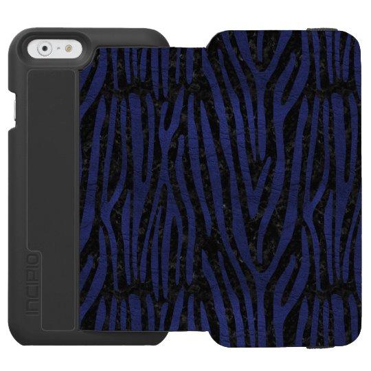 SCHWARZER MARMOR SKIN4 U. BLAUES LEDER (R) INCIPIO WATSON™ iPhone 6 GELDBÖRSEN HÜLLE