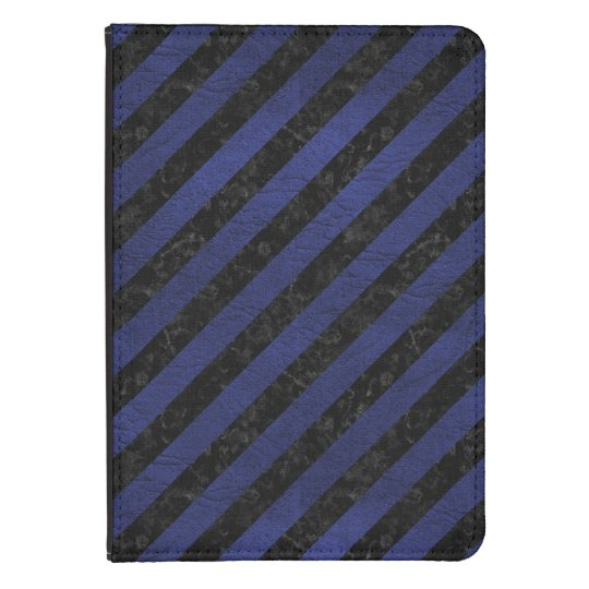 SCHWARZER MARMOR STRIPES3 U. BLAUES LEDER KINDLE TOUCH COVER