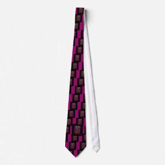 Schwarzer Neoninternatsschüler der gotischen Personalisierte Krawatte