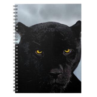 Schwarzer PantherPanthera Spiral Notizblock