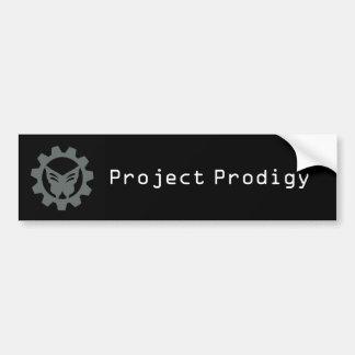 Schwarzer Projekt-Logo-Autoaufkleber 2 Autoaufkleber