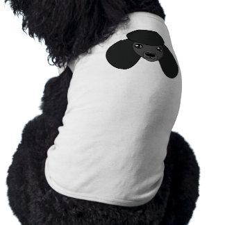 Schwarzer Pudel-T - Shirt