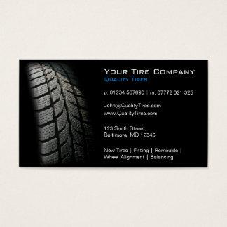 Schwarzer Reifen-passende Visitenkarte