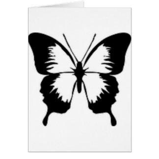 Schwarzer Schmetterling Karte