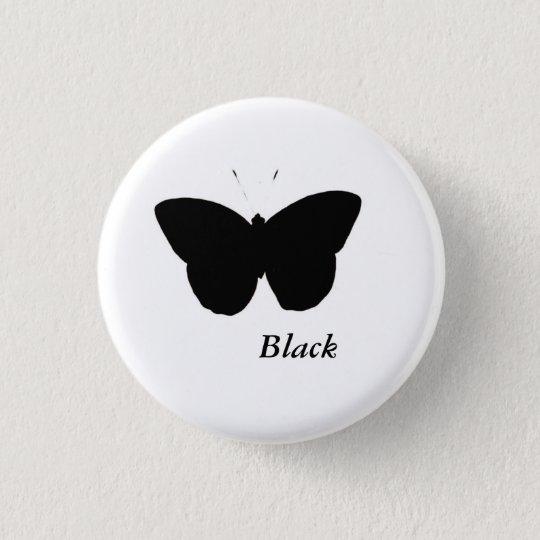 Schwarzer Schmetterling Runder Button 2,5 Cm