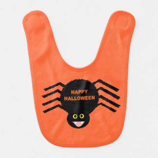 Schwarzer Spinnen-Schellfisch Halloweens Babylätzchen