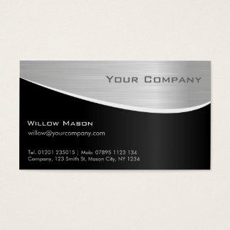 Schwarzer Stahleffekt, berufliche Geschäfts-Karte Visitenkarte