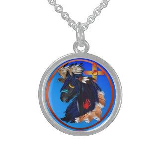 Schwarzer Stallion der Morgenhalskette Sterling Silberkette