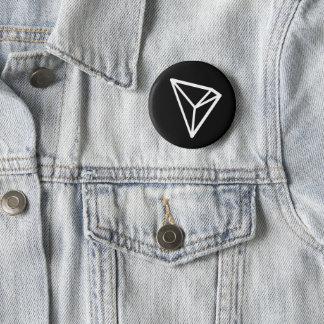 Schwarzer Standardknopf Trons TRX Runder Button 5,1 Cm