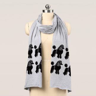 Schwarzer Standardpudel-Jersey-Schal Schal