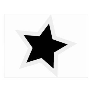 Schwarzer Stern-mutige weiße Kontur Postkarten