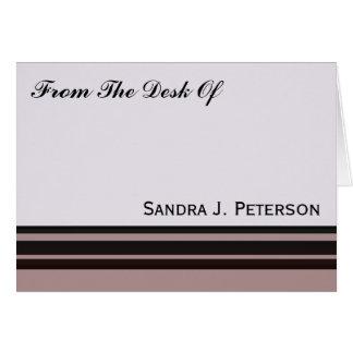 schwarzer Streifen auf lila Geschäft Mitteilungskarte