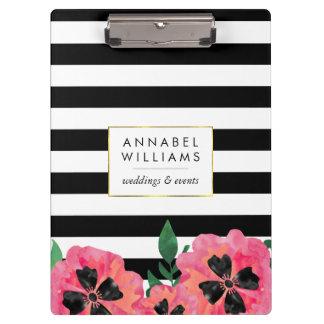 Schwarzer Streifen u. rosa personalisiertes mit
