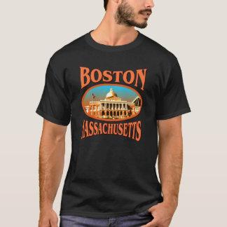 Schwarzer T - Shirt Bostons Massachusetts