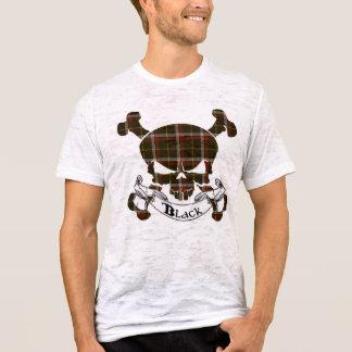 Schwarzer Tartan-Schädel T-Shirt