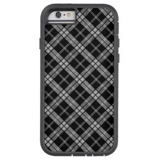 Schwarzer Tartan Tough Xtreme iPhone 6 Hülle