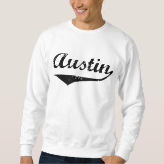 Schwarzer Text Austins Sweatshirt