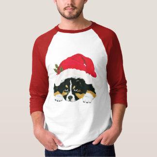 Schwarzer Tri australischer Weihnachtswelpe T-Shirt