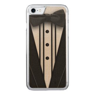 Schwarzer Tuxedo mit Bogen-Krawatte Carved iPhone 7 Hülle