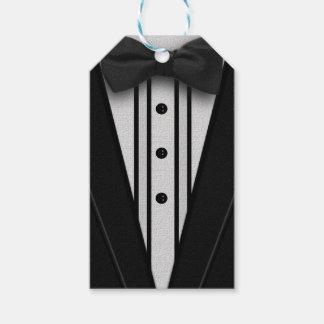 Schwarzer Tuxedo mit Bogen-Krawatte Geschenkanhänger
