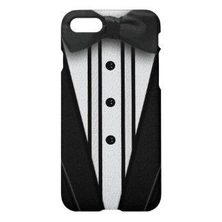 Schwarzer Tuxedo mit Bogen-Krawatte iPhone 7 Hülle