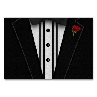 Schwarzer Tuxedo mit Bogen-Krawatte Karte