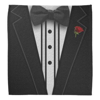 Schwarzer Tuxedo mit Bogen-Krawatte Kopftuch
