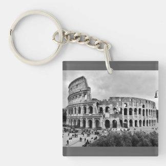 Schwarzer u. weißer Colosseum Rom Schlüsselring