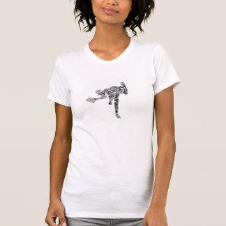 Schwarzer u. weißer Gekritzel-Krug T-Shirt