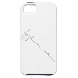 Schwarzer u. weißer Handschrifts-Kalligraphie iPhone 5 Etui