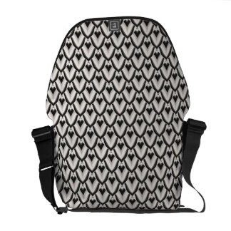 Schwarzer u. weißer Kunst-Deko-Noir Muster Kurier Taschen