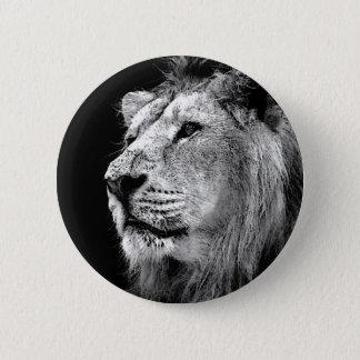 Schwarzer u. weißer Löwe Runder Button 5,1 Cm