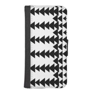 Schwarzer u. weißer Pfeil-Diamant-geometrisches iPhone SE/5/5s Geldbeutel
