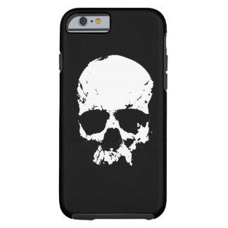 Schwarzer u. weißer Pop-Kunst-Schädel iPhone 6 Tough iPhone 6 Hülle