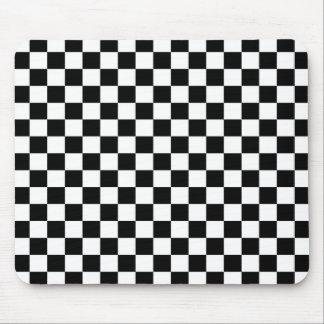 Schwarzer u. weißer Schachbrett-Hintergrund Mousepads