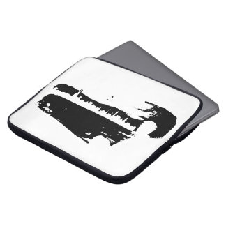 Schwarzer u. weißer Stadt-Ausblick - Laptop-Hülse Laptop Sleeve