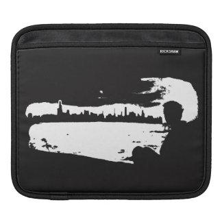 Schwarzer u. weißer Stadt-Ausblick - Sleeve Für iPads