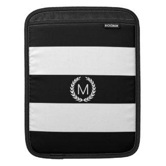 Schwarzer u. weißer Streifen mit iPad Sleeves